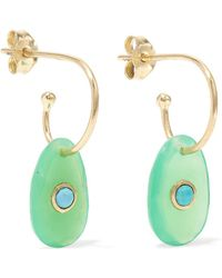 Pascale Monvoisin - Orso 9-karat Rose Gold, Chrysoprase And Turquoise Earrings - Lyst