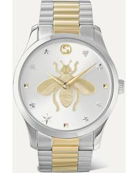 Gucci G-timeless 38mm Stainless Steel And Pvd-plated Watch - Metallic