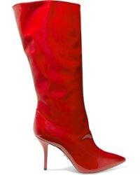 Paul Andrew - Ciondolare Patent-leather Knee Boots - Lyst