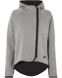 Nike - Tech Fleece Cotton-blend Jersey Hooded Top - Lyst