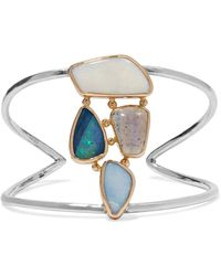 Melissa Joy Manning | 14-karat Gold, Sterling Silver And Multi-stone Cuff | Lyst