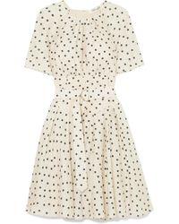 Diane von Furstenberg - Belted Polka-dot Silk Dress - Lyst