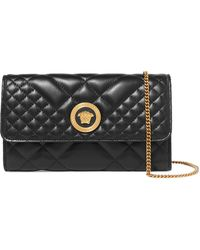 Versace - Quilted Leather Shoulder Bag - Lyst
