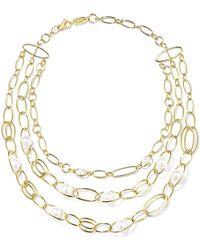 Ippolita - Nova 18-karat Gold Pearl Necklace - Lyst