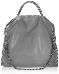 Stella McCartney The Falabella Medium Faux Brushed-leather Shoulder Bag - Gray