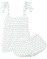 Three J Nyc - Jackie Fil Coupé Cotton-poplin Pyjama Set - Lyst