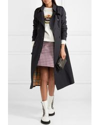 Burberry The Chelsea Long Cotton-gabardine Trench Coat - Blue