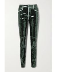 Rick Owens Tyrone Sequined High-rise Skinny Jeans - Green