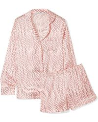 Stella McCartney - Ellie Leaping Printed Silk-blend Pyjama Set - Lyst
