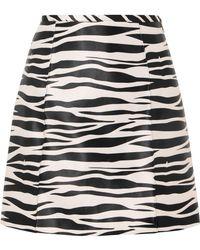 we11done - Zebra-print Satin Mini Skirt - Lyst
