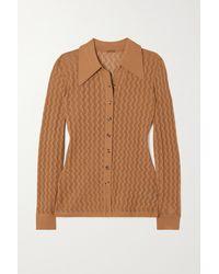 Dodo Bar Or Meryl Pointelle-knit Cardigan - Brown