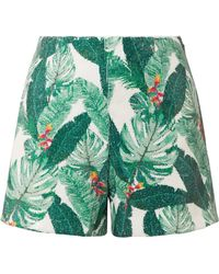 Rachel Zoe - Miley Sequined Crepe Shorts - Lyst