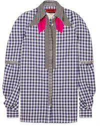 Ronald Van Der Kemp - Cowgirl Patchwork Gingham Cotton-poplin Shirt - Lyst