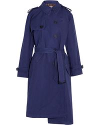 Balenciaga - Pulled Oversized Cotton-canvas Trench Coat - Lyst