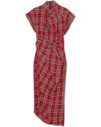 Awake | Tartan Cotton Midi Dress | Lyst