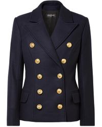 Balmain - Double-breasted Wool And Cashmere Blend Coat - Lyst