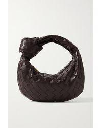 Bottega Veneta Jodie Mini Knotted Intrecciato Leather Tote - Brown