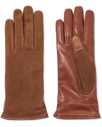 Lanvin - Suede And Leather Gloves - Lyst