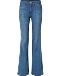 Veronica Beard | Farrah Panelled High-rise Flared Jeans | Lyst