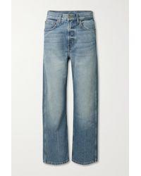 B Sides Plein High-rise Straight-leg Jeans - Blue