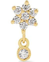 Maria Tash - Flower 18-karat Gold Diamond Earring - Lyst