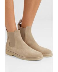 Common Projects Suede Chelsea Boots - Natural