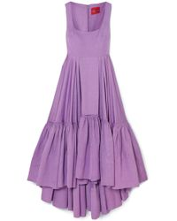 Solace London - Haye Tiered Woven Midi Dress - Lyst