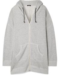 R13 - Oversized Cotton-terry Hooded Top - Lyst