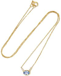 Jennie Kwon - 14-karat Gold, Sapphire And Diamond Necklace - Lyst