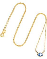 Jennie Kwon | 14-karat Gold, Sapphire And Diamond Necklace | Lyst
