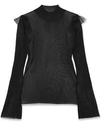 Noir Kei Ninomiya - Ribbed-knit Top - Lyst