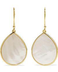 Ippolita Polished Rock Candy 18-karat Gold Mother-of-pearl Earrings - Metallic
