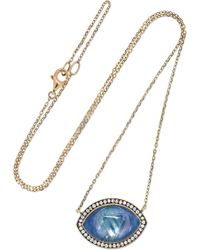 Noor Fares - Ajna 18-karat Gray-gold Multi-stone Necklace - Lyst