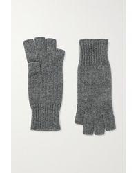 Khaite Kai Cashmere Fingerless Gloves - Gray