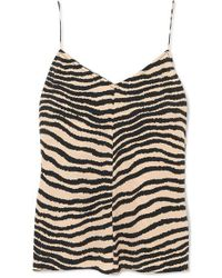 By Malene Birger - Lacia Zebra-print Crepe Camisole - Lyst