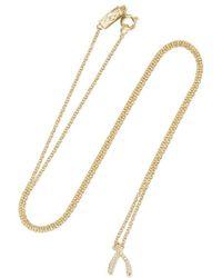 Jennifer Meyer Wishbone 18-karat Gold Diamond Necklace - Metallic