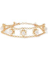 DANNIJO - Perla Gold-plated Faux Pearl Choker - Lyst