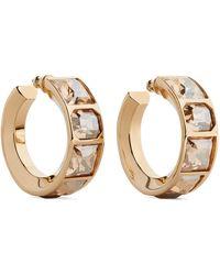 Chloé - Tilly Gold-tone Crystal Hoop Earrings - Lyst