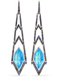 Stephen Webster | Lady Stardust 18-karat White Gold Multi-stone Earrings | Lyst