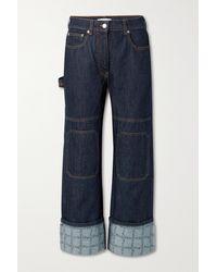 JW Anderson Hoch Sitzende Jeans Mit Geradem Bein Und Print - Blau