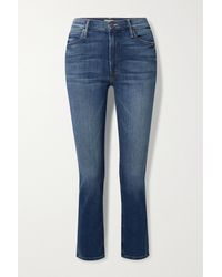 Mother - The Dazzler Mid-rise Straight-leg Jeans - Lyst