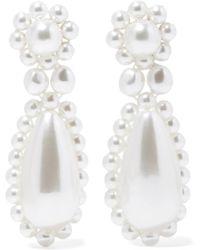 Simone Rocha - Silver-plated Faux Pearl Earrings - Lyst