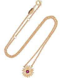 Aurelie Bidermann - 18-karat Gold Rhodolite Garnet Necklace - Lyst