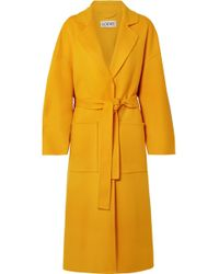 Loewe - Oversized Belted Wool And Cashmere-blend Coat - Lyst