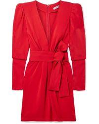 Silvia Tcherassi Otavia Crepe Mini Dress - Red