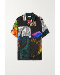 Dries Van Noten Clive Oversized Printed Satin-twill Shirt - Black