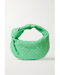 Bottega Veneta Jodie Mini Knotted Intrecciato Leather Tote - Green