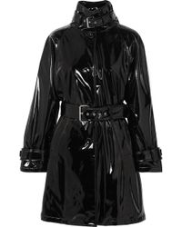 Moschino - Belted Vinyl Trench Coat - Lyst