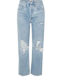 Agolde '90s Distressed High-rise Boyfriend Jeans - Blue