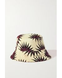 Dries Van Noten Printed Cotton-terry Bucket Hat - Green